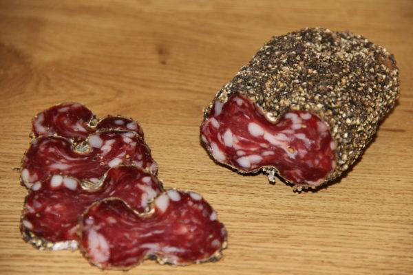 Saucisson enrobé au poivre 0.32 Kg
